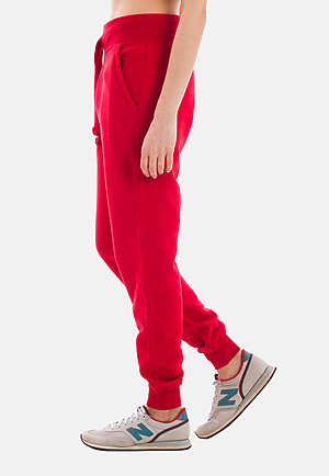 Premium Fleece Joggers RED sidew