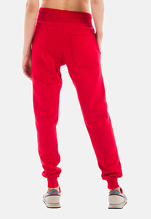 Premium Fleece Joggers RED backw