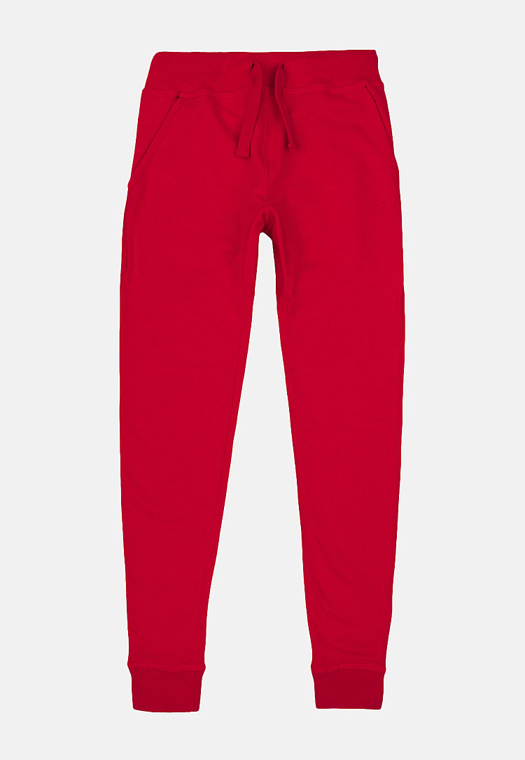 Premium Fleece Joggers RED flat