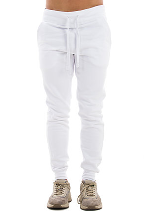 Premium Fleece Joggers WHITE front