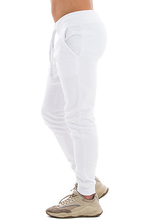 Premium Fleece Joggers WHITE side