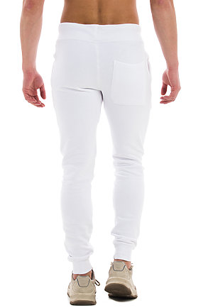 Premium Fleece Joggers WHITE back