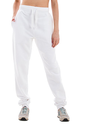 Premium Fleece Joggers WHITE frontw