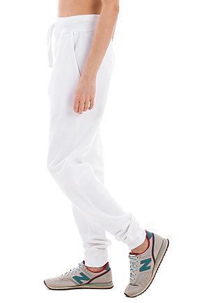 Premium Fleece Joggers WHITE sidew