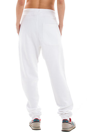 Premium Fleece Joggers WHITE backw
